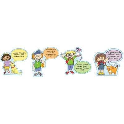 Inspirational Playgrounds 4 Piece Good Friend Outdoor Wall Plaque Set