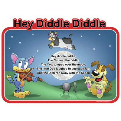 Inspirational Playgrounds Hey Diddle Diddle Wall Plaque