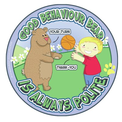 Inspirational Playgrounds Good Behaviour Bear Outdoor C Wall Plaque