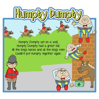 Inspirational Playgrounds Humpty Dumpty Wall Plaque