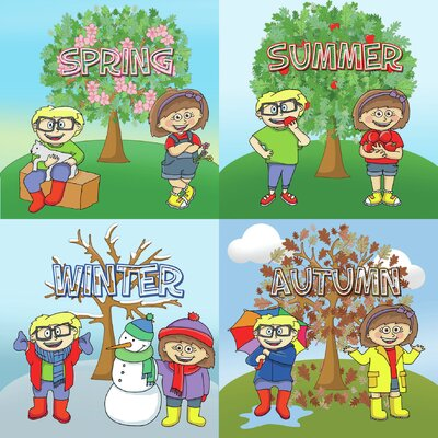Inspirational Playgrounds Four Seasons Tree Square Wall Plaque