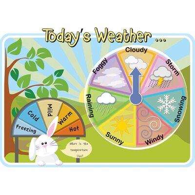 Inspirational Playgrounds Today's Weather Board Wall Plaque