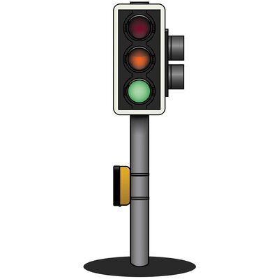 Inspirational Playgrounds Traffic Light Wall Plaque