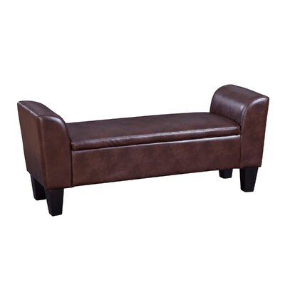 Chloe Faux Leather Storage Bench