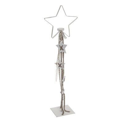 PureDay Teelichthalter White Star aus Metall und Glas