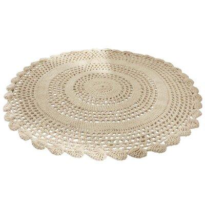 PureDay Handgearbeiteter Teppich in Beige
