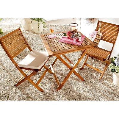 PureDay 3-tlg. Bistro-Set Carina mit Kissen