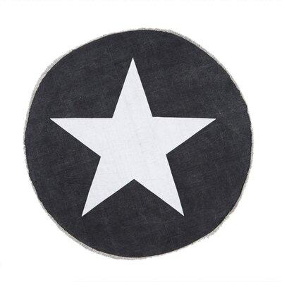 PureDay Teppich Sterne in Anthrazit