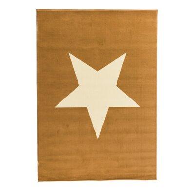 PureDay Teppich Sterne in Gelb / Weiß