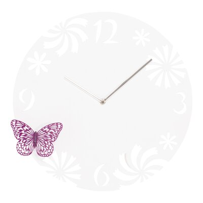 PureDay Wanduhr Papillon 40 cm