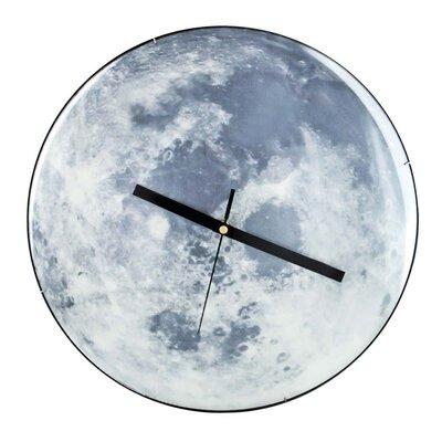PureDay Funk-Wanduhr Moon 35 cm