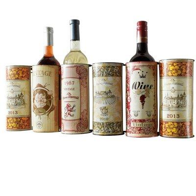 PureDay Weinregal Vintage für 6 Fl.