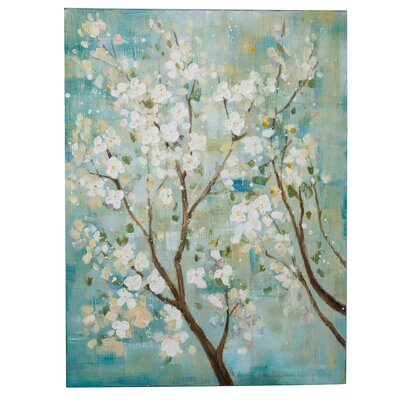 PureDay Leinwandbild Kirschblütenzweige, Originalgemälde