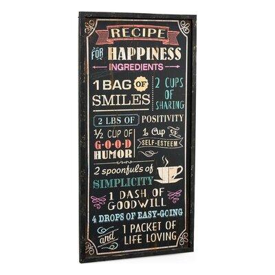 PureDay Schild Happiness, Retro-Werbung