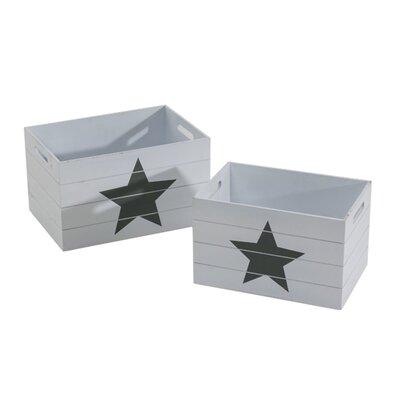 PureDay 2-tlg. Aufbewahrungskasten-Set Sterne