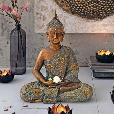 PureDay Dekofigur Sitzender Buddha
