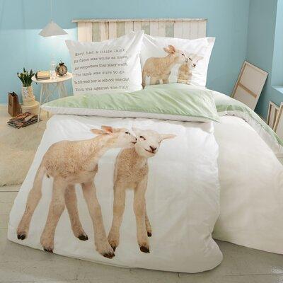 PureDay Bettwäsche-Set Lämmer aus 100% Baumwolle