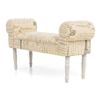 PureDay Gepolsterte Sitzbank Olia aus Holz