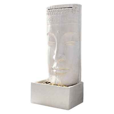 PureDay Standbrunnen Buddha aus Polyresin