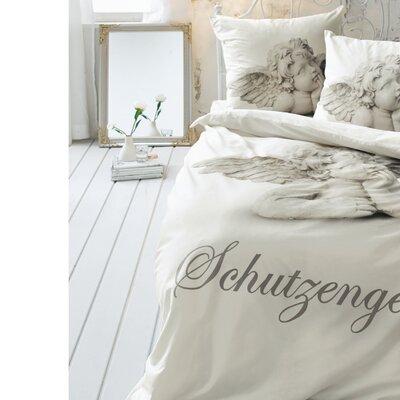 PureDay Bettwäsche-Set Schutzengel aus 100% Baumwolle-Renforcé