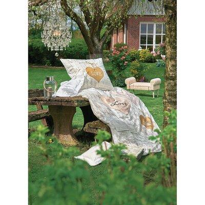 PureDay Bettwäsche-Set Vintage Room aus 100% Baumwolle-Renforcé