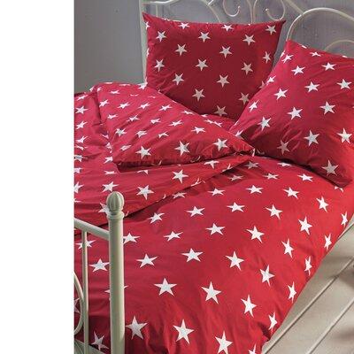 PureDay Bettwäsche-Set Sterne aus 100% Baumwolle-Renforcé