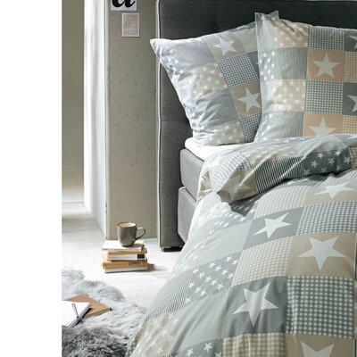 PureDay Bettwäsche-Set Patchwork Sterne aus 100% Baumwolle-Renforcé