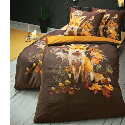 PureDay Bettwäsche-Set Fuchs aus 100% Baumwolle-Satin