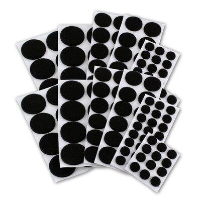Premium Heavy-Duty Furniture Felt Pad Protectors for Hardwood (Pack of 152) Color: Black