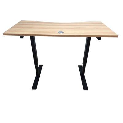 Crank Standing Desk Finish: Light Brown