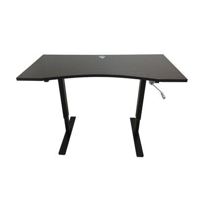 Crank Standing Desk Finish: Dark Brown