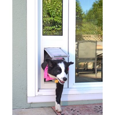 """Endura Flap Thermo Panel 3E Pet Door Flap Size: Small, Color: White, Frame Size: 74.75"""" - 77.75"""""""