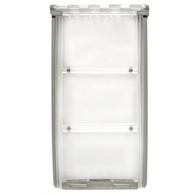 """Endura Flap Thermo Panel 3E Pet Door Flap Size: Small, Color: Silver, Frame Size: 74.75"""" - 77.75"""""""
