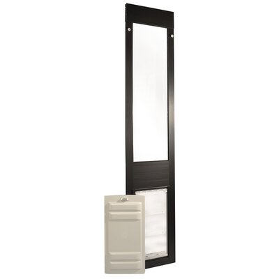 """Endura Flap Thermo Panel 3E Pet Door Flap Size: Small, Color: Bronze, Frame Size: 74.75"""" - 77.75"""""""