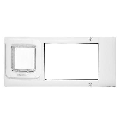 "Thermo Sash 2e SureFlap Microchip Pet Door Color: White, Size: 25"" x 28"""