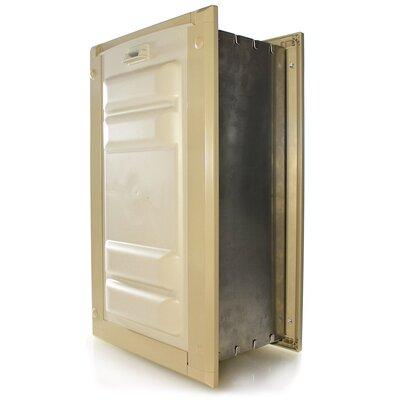 """Door Mount Double Flap Pet Door Flap Size: Small (10"""" H x 6"""" W), Color: Tan"""