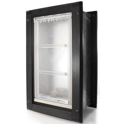 """Door Mount Double Flap Pet Door Flap Size: Small (10"""" H x 6"""" W), Color: Black/Dark Bronze"""