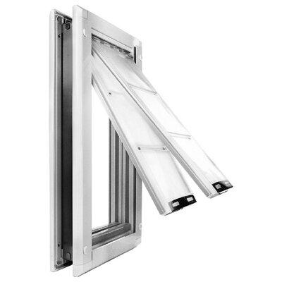 """Door Mount Double Flap Pet Door Flap Size: Small (10"""" H x 6"""" W), Color: White"""
