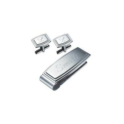 Calvi Stainless Steel Money Clip and Cufflinks Gift Set