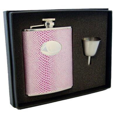 Snakeskin Design Flask Gift Set Finish: Viper Purple