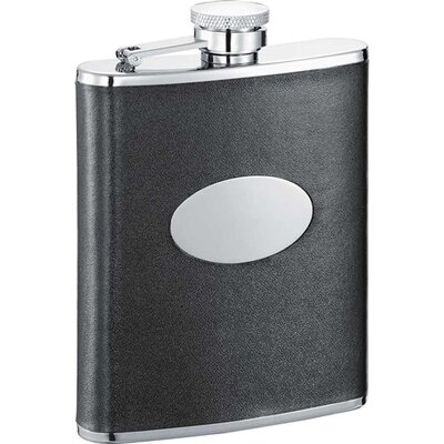 Lance Leather Stainless Steel Hip Flask