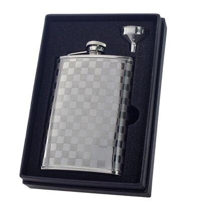 Mate Checkered Flask Gift Set