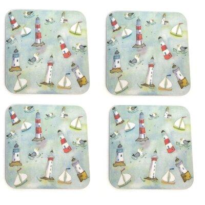 Emma Ball Lighthouses Afloat Melamine Coaster