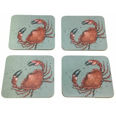 Emma Ball 8 Piece Crab Coaster and Placemat Set