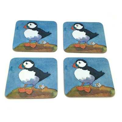 Emma Ball 8 Piece Puffins Coaster and Placemat Set