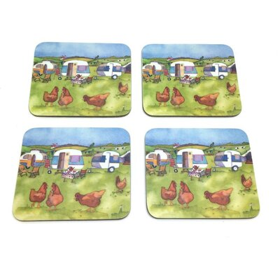 Emma Ball 8 Piece Glamping Coaster and Placemat Set