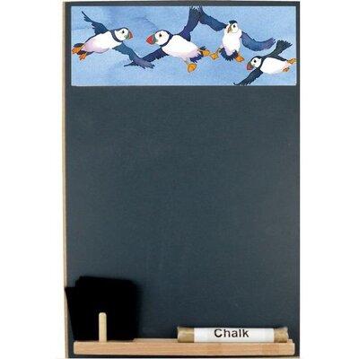 Emma Ball Puffins Half Chalk Board, 30cm H x 21cm W