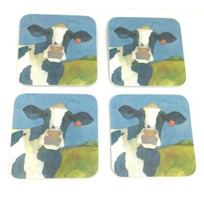 Emma Ball Cow Melamine Coaster
