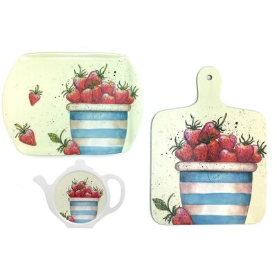 Emma Ball 3 Piece Strawberry Kitchen Set