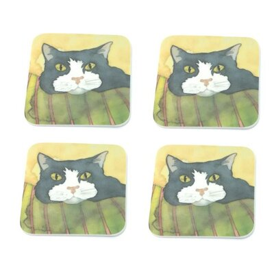 Emma Ball William Cat Melamine Coaster